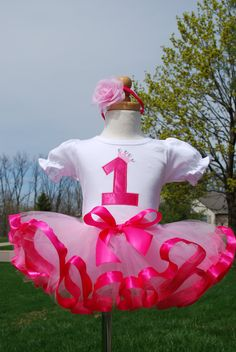 Bubble Gum Princess Custom Birthday outfit -Perfect for girls 1st, 2nd, 3rd, 4th, 5th or 6th Birthday. $70.00, via Etsy.