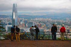 vista de Santiago de Chile desde cerro San Cristóbal.