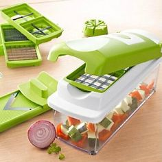 Buy Top Quality 12 Kitchen Tools Kit Nicer Dicer Plus Fruit Vegetable Food Slicer Cutter Containers Chopper Peelers Set at Home - Design & Decor Shopping Vegetable Shredder, Vegetable Chopper, Vegetable Slicer, Nicer Dicer Plus, Genius Nicer Dicer, Kitchen Tools, Kitchen Gadgets, Kitchen Dining, Cooking Gadgets