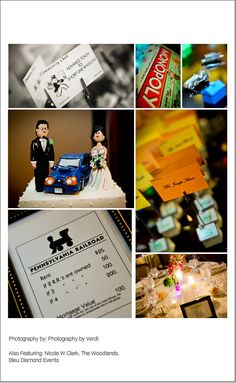 Monopoly Themed Wedding Reception