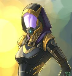 pc still bugging like hell, can't play bf3 T^T so I drew Tali again - kinda prefer this outfit