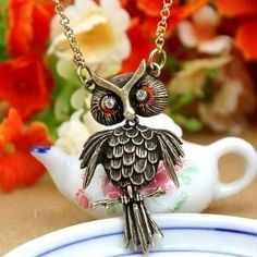 Vintage owl necklace #owl #necklace www.loveitsomuch.com