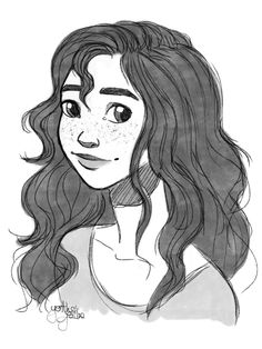 "jngarrettart: ""yenthejoline: ""Late birthday present for my dear friend @jngarrettart , a drawing of her lovely character Naddie. Jen, I hope you like it!  "" DAAAAHHHHHHHHHHH!!! I–WHA??? :D :D :D I more than like it, I totally LOVE it, Yenthe! Wow,..."