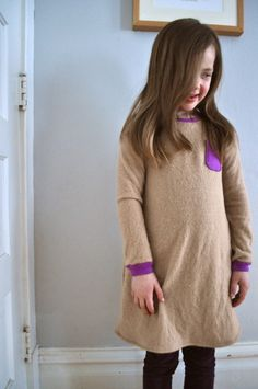 sweater dress from a skinny tee pattern