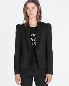 Image 2 of BLAZER WITH GATHERED SHOULDERS from Zara