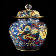 Cloisonne jar from China Ming dynasty, Xuande period (AD 1426-35)
