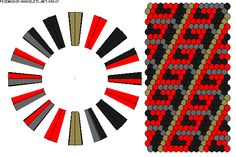 K5607 - friendship-bracelets.net  - Strings: 32 Colors: 4