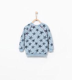 Image 3 of Star print sweatshirt from Zara