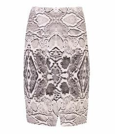 Snake Print Wrap Skirt, MULTI, hi-res