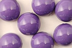 Czech Glass Dome Bead 14x8mm - Light Plum