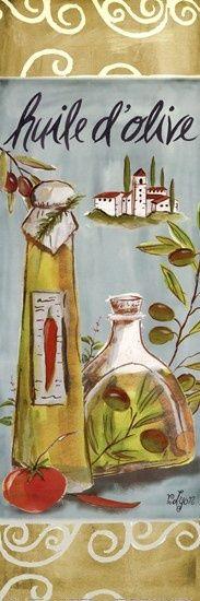 Olives On Beige III by Rebecca Lyon art print