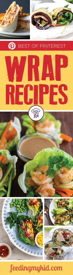 Try these amazing wrap recipes that are perfect for the whole family. Make them for lunch or a light dinner. These are perfect! Healthy Lunches For Kids, Toddler Lunches, Wrap Recipes, New Recipes, Favorite Recipes, Healthy Chicken, Chicken Salad, Great Lunch Ideas
