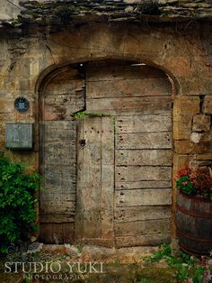 rustic french country doors | Old Door Photo, Rustic French Door, France, Travel Photography ...