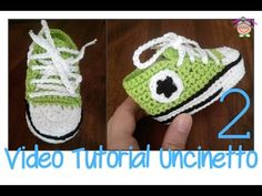 Tutorial Uncinetto: come si fanno le scarpine ALL STAR CONVERSE - YouTube