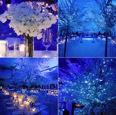 Beautiful frost themed wedding done by Van Vliet & Trap at the Pierre hotel