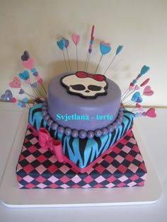 Monster High cake. My cousin Makala would LOVE this.