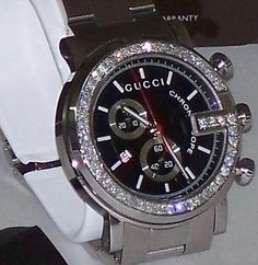 9a4df6b9ff8 New Men s 101m Gucci chrono 1.92ct.aprx.custom set real Diamond Watch  YA101309
