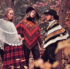 Mod 70s 'Ponchos Defined' Knit and Crochet Patterns Hat, Skirt, Coat  and 6 Ponchos: $7.95