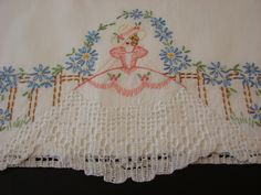 Southern Charm- Southern Belles- Fab vintage pillowcases- beautiful hand embroidery  www.newyorkvintagelinens.com