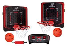 Turn any room into a full court Basketball arena with this wireless Basketball game from EastPoint sports. The home and away hoops wirelessly transmit each 2 Player Basketball Games, Arcade Basketball, Indoor Basketball Hoop, Basketball Shorts Girls, Basketball Games For Kids, Basketball Rules, Adidas Basketball Shoes, Basketball Leagues, Basketball Uniforms