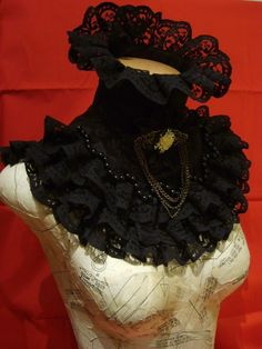 Black victorian collar by blackmirrordesign on Etsy I like this, but wonder if it would be too big for me.