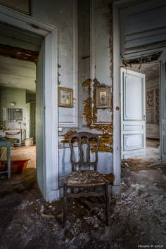 The abandoned Château de la Forêt or Castle Moulbaix, Moulbaix, Arrondissement of Ath, Belgium.