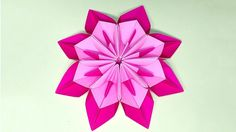 Unique Flower in origami style! 3 modifications of paper flower for room...