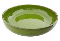Green Dinner Plates, Large Bowl, Selena, Serving Bowls, Pottery, Ceramics, Tableware, Summer Time, Ceramica