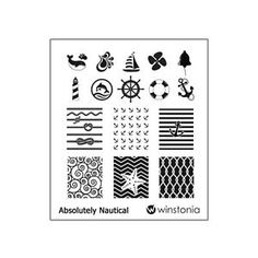 Winstonia Absolutely Nautical Nail Art Stamp Stamping Image Plate Polish Marine