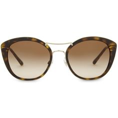 d8ec62a04a3a6 BURBERRY BE4251 round havana sunglasses (146.475 CLP) ❤ liked on Polyvore  featuring accessories