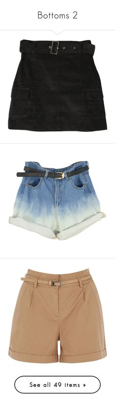"""""""Bottoms 2"""" by xo-nikita ❤ liked on Polyvore featuring skirts, bottoms, clothing - skirts, shorts, short, pants, multi, high-waisted shorts, blue high waisted shorts and denim shorts"""