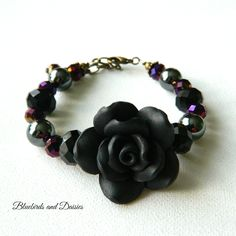 Black Rose Bracelet - The Supermums Craft Fair