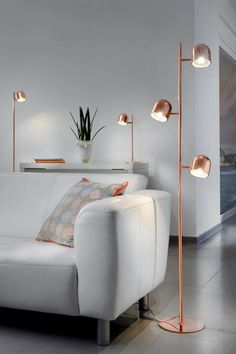 When shopping for a lamp for your home, your choices are almost endless. Find the most suitable living room lamp, bed room lamp, table lamp or any other type for your specific space. Farmhouse Floor Lamps, Copper Floor Lamp, Vintage Industrial Lighting, Vintage Lamps, Modern Lighting, Lighting Ideas, Room Lamp, Bed Room, Living Room Designs