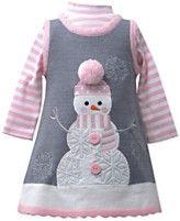 Bonnie Baby Baby Girls' Fleece Snowman Jumper