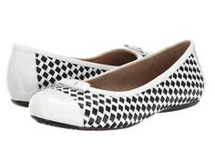 SoftWalk Naperville White/Black Woven Soft Nappa Leather/Patent - Zappos.com Free Shipping BOTH Ways
