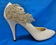 Rhinestone Shoe Clips, Bridal Shoe Accessory,  Rhinestone Shoe Clips,  Bridal Party Shoes, Wedding Shoe Clips by ctroum on Etsy https://www.etsy.com/listing/89299918/rhinestone-shoe-clips-bridal-shoe