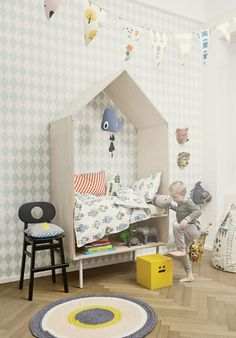 Sata ja yksi lastenhuoneideaa: Tapettirakkautta