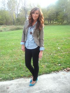 I want a tweed blazer and a chambray button down
