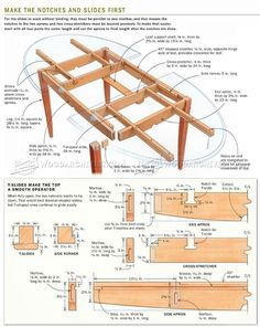 Expanding Table Plans - Furniture Plans and Projects - Woodwork, Woodworking, Woodworking Tips, Woodworking Techniques Woodworking Ideas Table, Woodworking Furniture, Furniture Plans, Table Furniture, Woodworking Crafts, Woodworking Shop, Woodworking Plans, Woodworking Basics, Woodworking Classes
