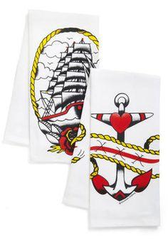 Race Against Maritime Towel Set, #ModCloth