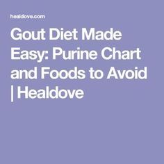 Gout Diet Made Easy: Purine Chart and Foods to Avoid | Healdove