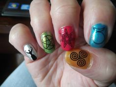 54 Nail DECALS Mixed WICCAN GODDESS Symbols Magic by NorthofSalem, $4.99