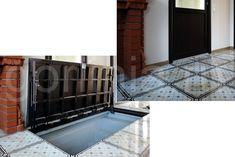 Положение откидной крышки с плиткой открыто/закрыто