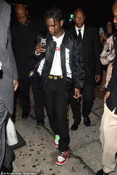 Killer style:A$ap, on the other hand, covered up his frame in a eclectic urban style that was ready for the runway