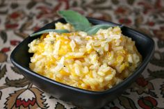 Simple recipe for Butternut Squash Risotto.  Photograph included.