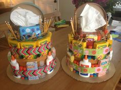 Teacher Supply Cakes by VarietyCakes on Etsy, $40.00