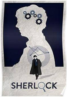'Sherlock Minimalist Poster' Poster by Rajarshi Khasnabis Sherlock Poster, Sherlock Holmes, Poster Poster, Minimalist Poster, Disney Characters, Fictional Characters, Disney Princess, Wallpaper, Retro Posters