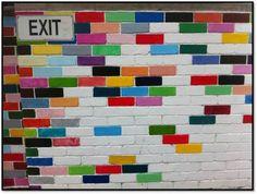 Colour Brick Wall fashionvesta.com