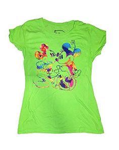 Disney Mickey & Minnie Mouse Tie Dye Junior Girls Tee Shirt