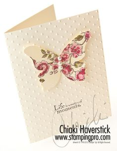 Butterfly card by Chiaki Haverstick (StampingPro)